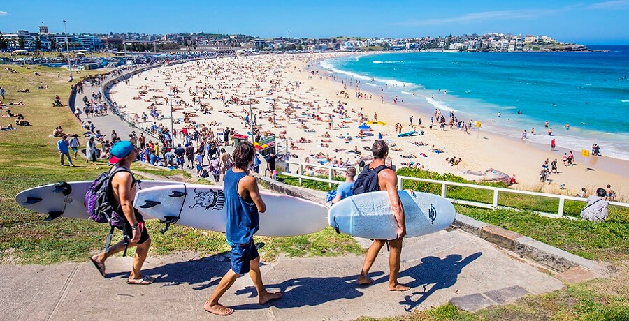 Bondi Beach - Surfers