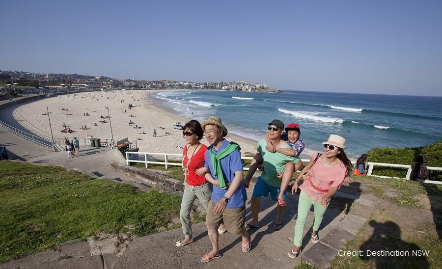 Family at Bondi Beach DESTINATION NSW