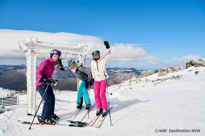 skiing at thredbo